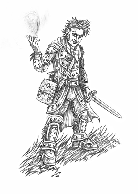 Gnome Fighter/Illusionist by Jakdaw