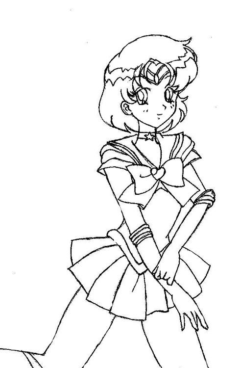 Sailor Mercury Coloring Page By Utter Moquerie On Deviantart Sailor Mercury Coloring Pages