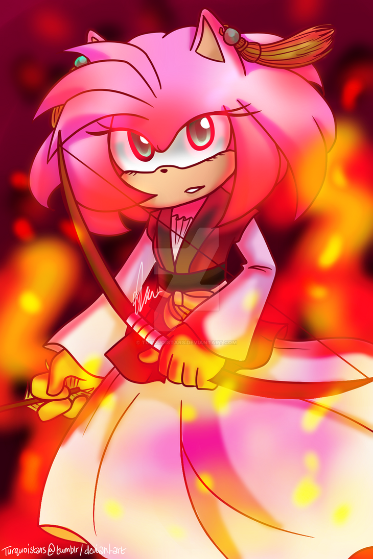 Amy Rose As Princess Yona By Turquoistars On Deviantart