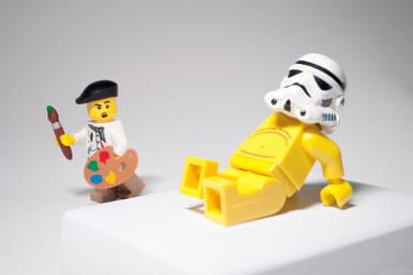 Storm Trooper Modern Art by StewNor