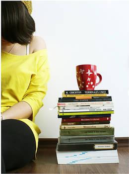 books and chocolate