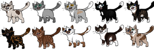 CLOSED Cat Adoptables! by LillyofIndominus
