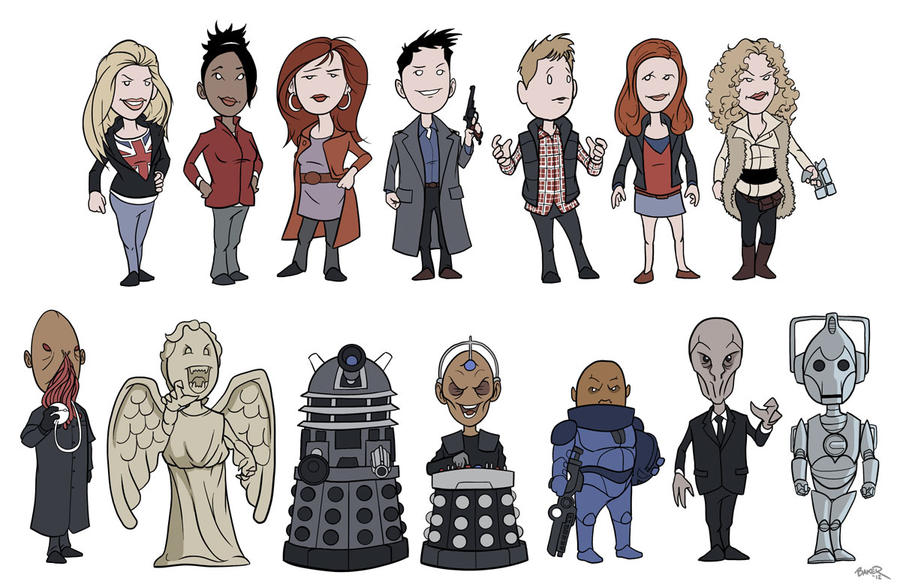 Doctor Who - Cute Companions and Bad Guys by thecommonwombat