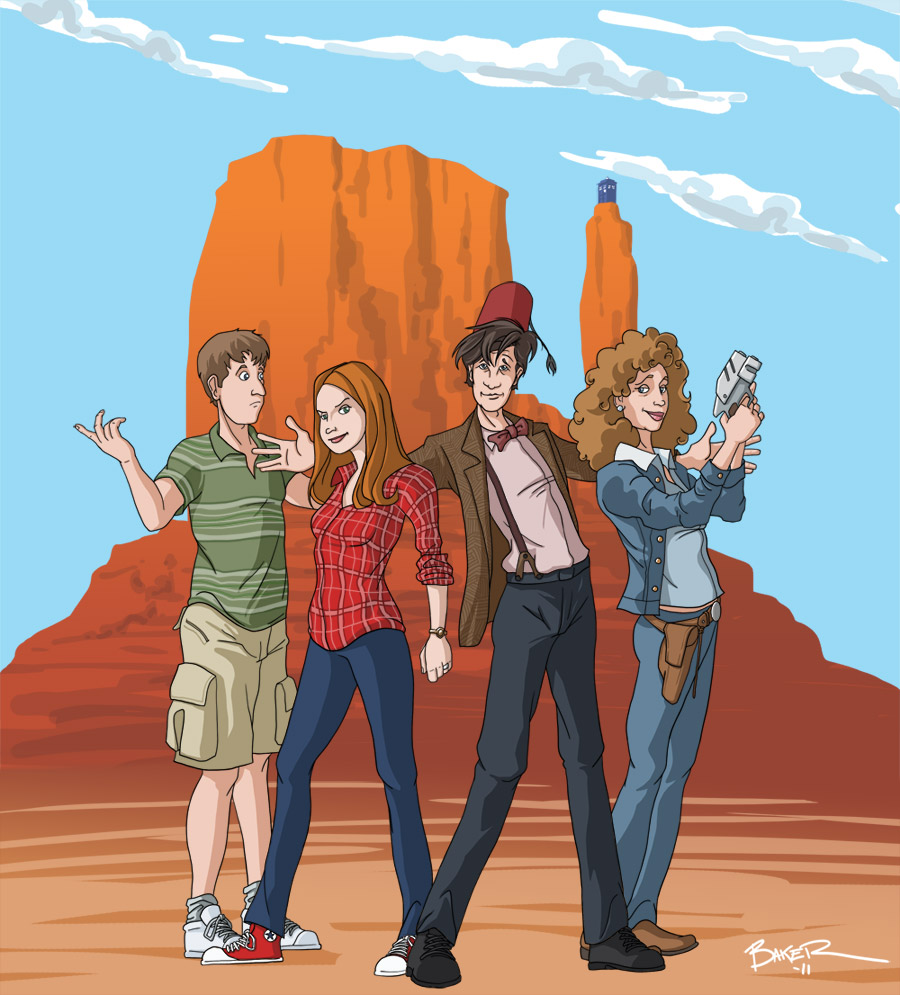 Doctor Who in America by thecommonwombat