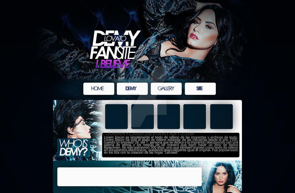 I Believe(Header psd) feat Demi Lovato by JohnnyLand