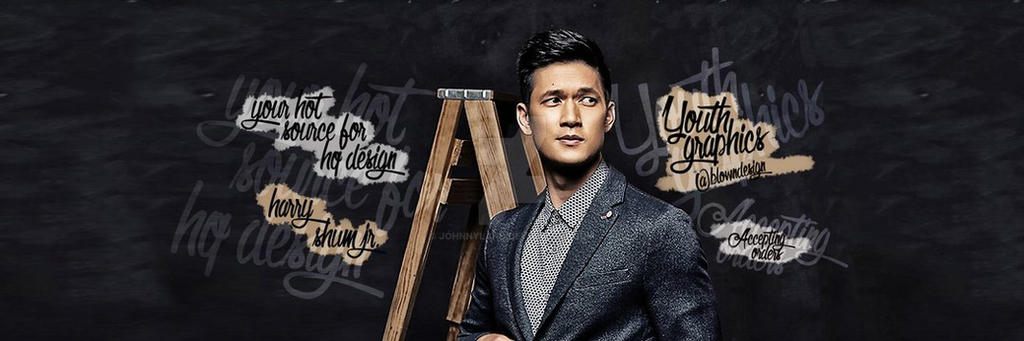 New twitter theme feat Harry Shum Jr by JohnnyLand
