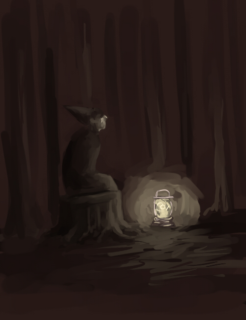 wirt sits by FloweredWounds