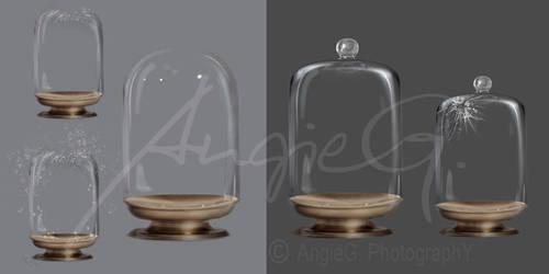 Ball Glass Jars - High Resolution PSD Files by GinAngieLa