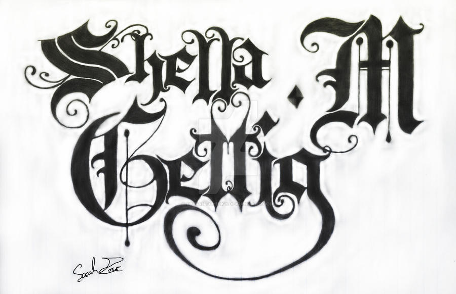 Gothic Lettering By MutantChicky
