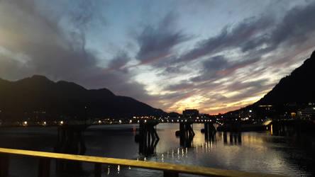 Sunset in Juneau