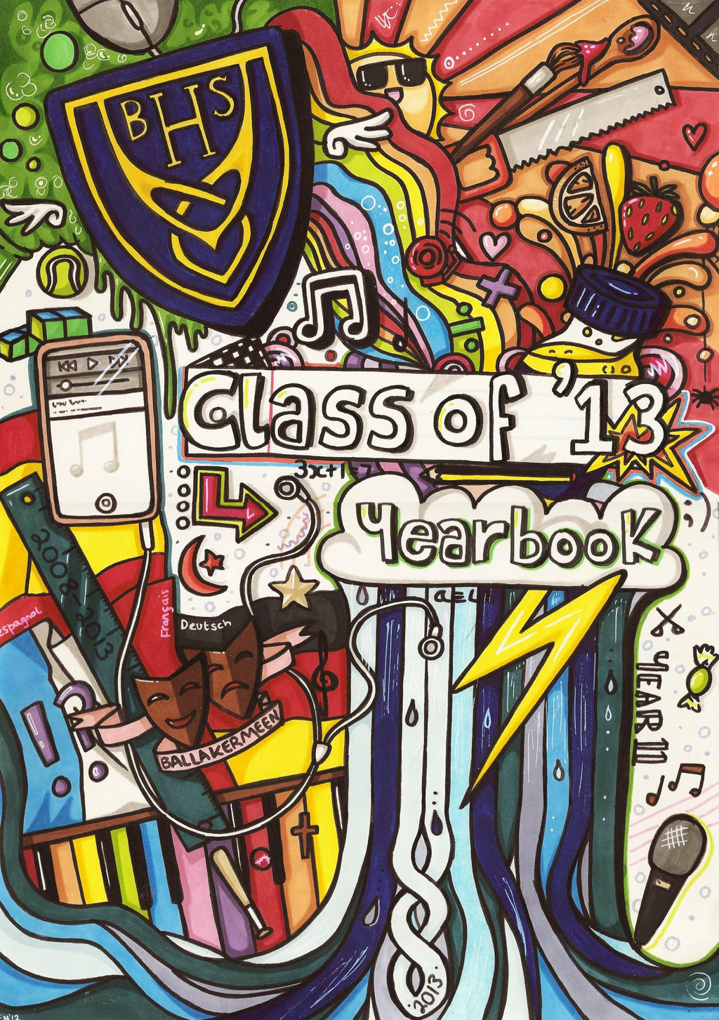 Yearbook Cover Drawing ~ Yearbook cover by evaholder on deviantart