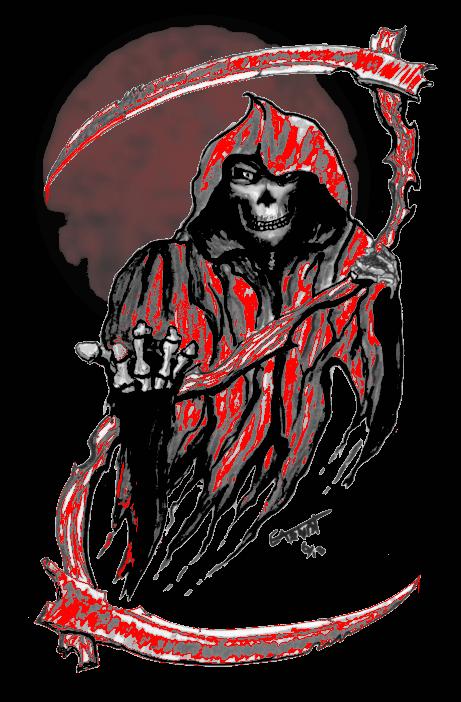 Flying Reaper Blood Moon by eddieblz