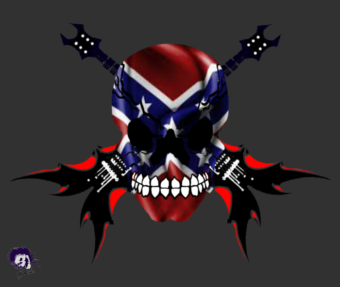 Rebel skull patch by eddieblz