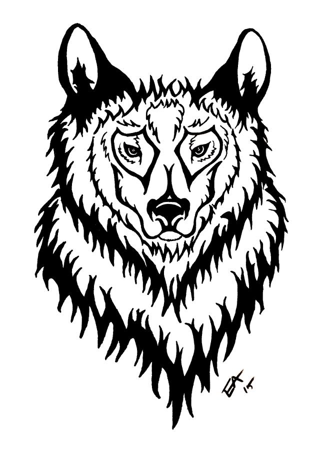 Tribal Wolf Tat by eddieblz