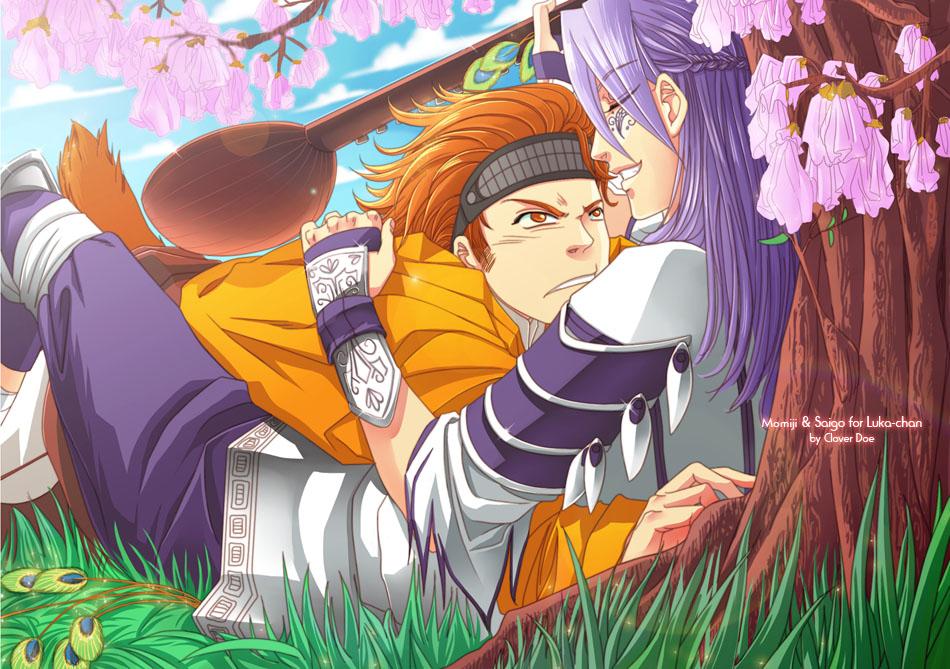 ::Commish:: Momiji+Saigo by CloverDoe