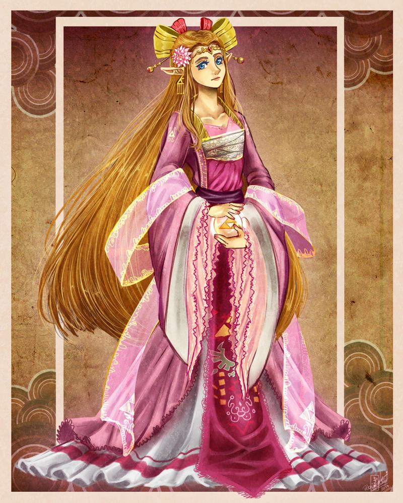 TLoZ Ocarina of time - An ancient princess by Rebe-chan-vk