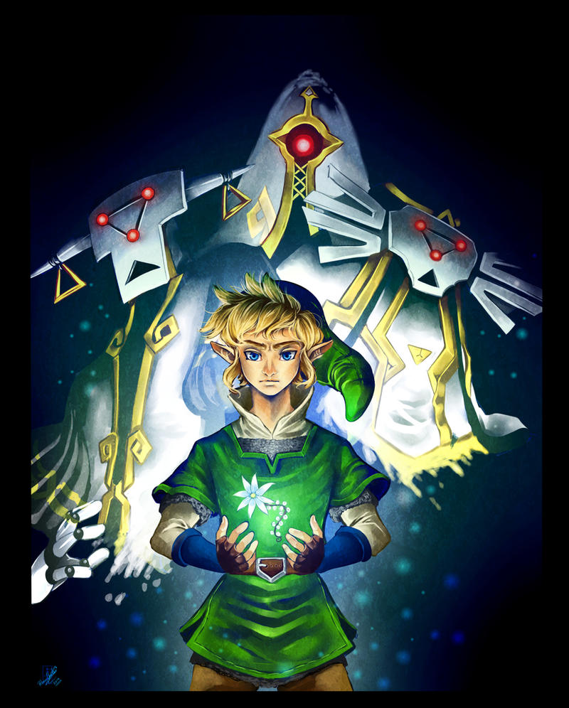 TLoZ Skyward Sword - Courage by Rebe-chan-vk