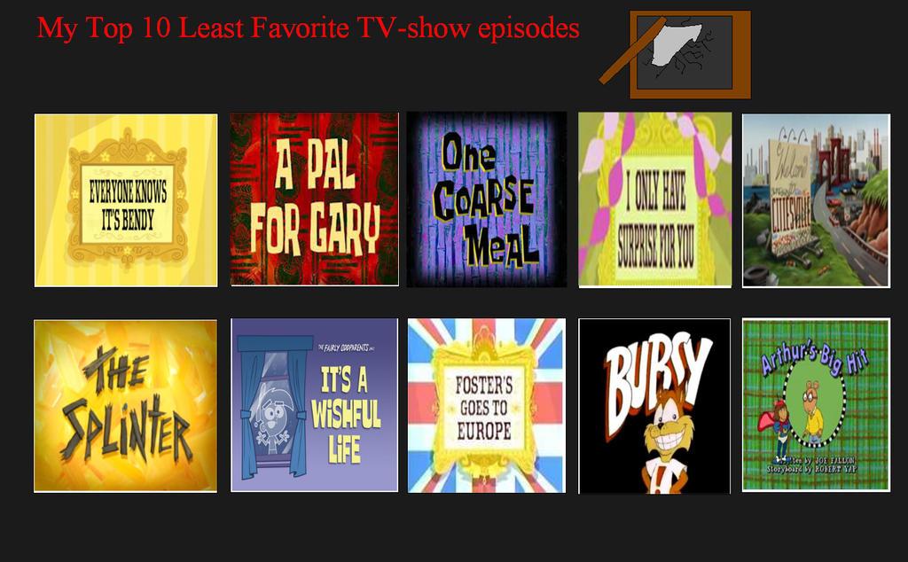 DrEarthwormRobontik's Top 10 Worst Episodes by DrEarthwormRobotnik