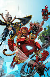 Marvel Adventures Avengers 38 by SotoColor