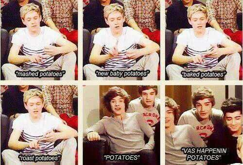 Niall and POTATOES !!! by alexaride