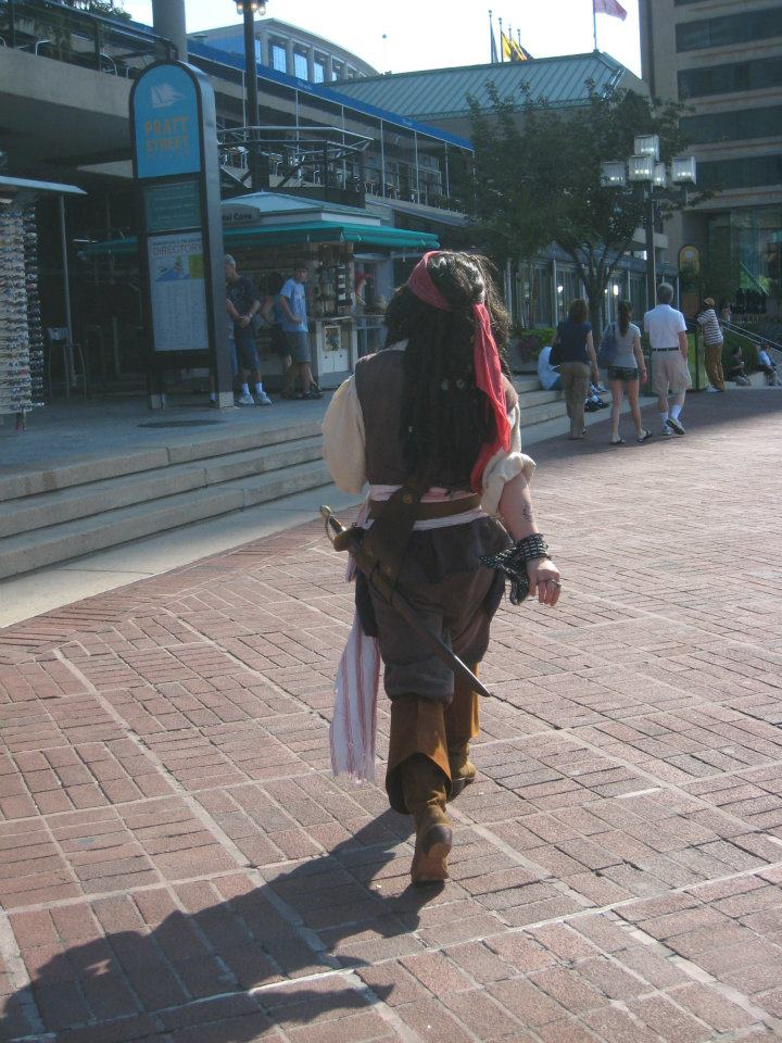 Captain Jack Sparrow walk by SweeneyT-DemonBarber