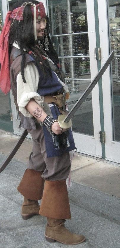 Otakon 2012 Jack Sparrow Cosplay by SweeneyT-DemonBarber