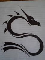 Tribal Dragon by SilverWolf306