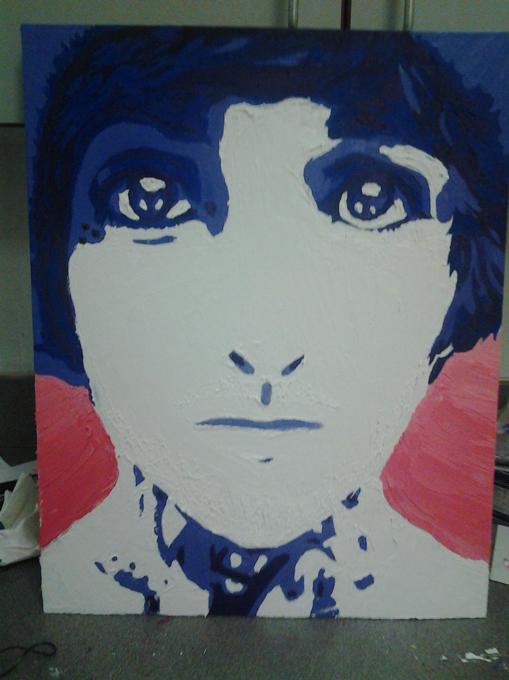 Impressionist/Pop-art Portrait of Oliver Sykes by Remy-peace