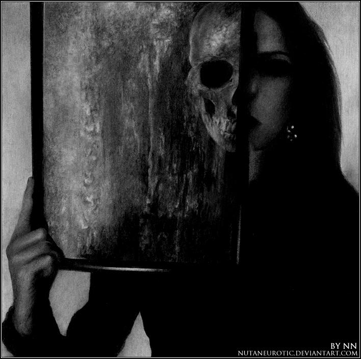 Skull-Head Girl by NutaNeurotic