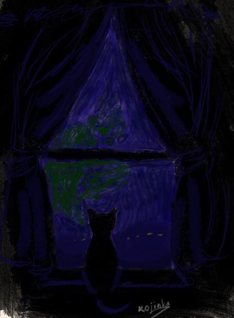 Gazing into the Night by KojinkaLuigiGodzilla
