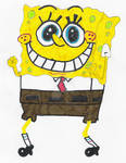 Coloured  drawing of Spogebob