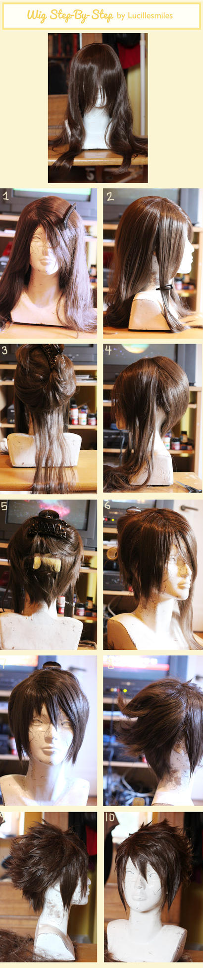 Step-by-step wig tutorial by LucilleSmiles