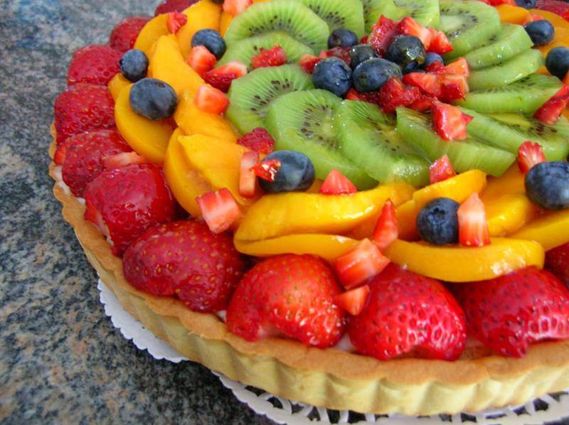 German Fruit Flan Cake Recipe