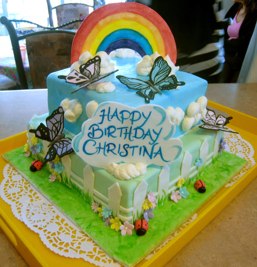 Christinas 4th Birthday Cake by bloookkkerschtufin on DeviantArt