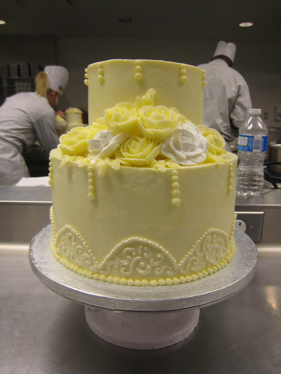 Cake With Roses Buttercream : Buttercream Rose Cake by bloookkkerschtufin on DeviantArt