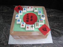 Mahjong Cake for Grandma by bloookkkerschtufin