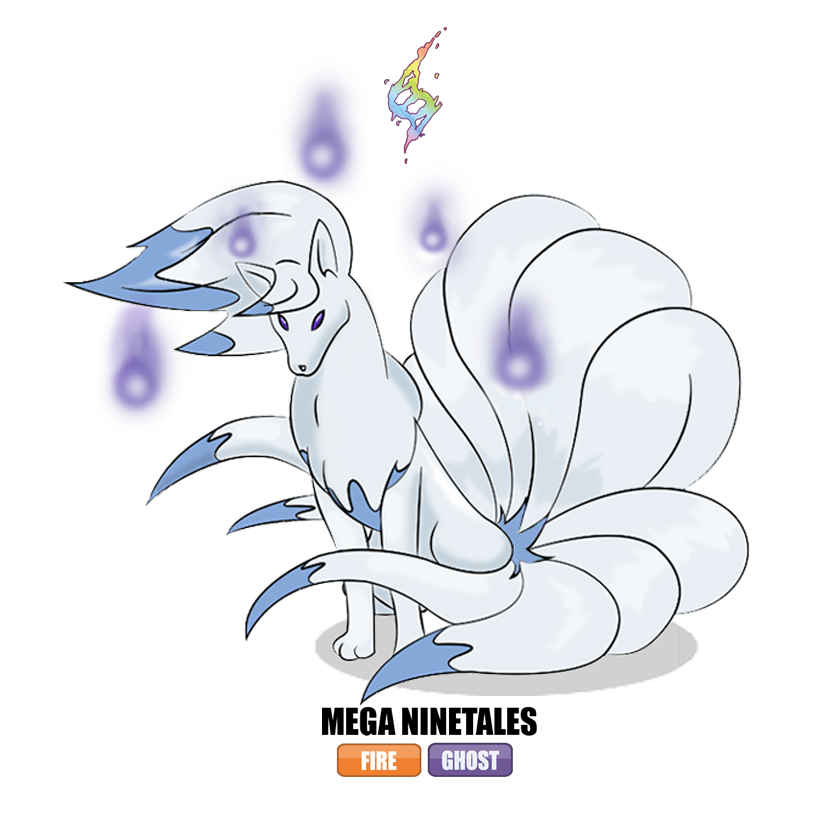 #038 Mega Ninetales by Otchono on DeviantArt