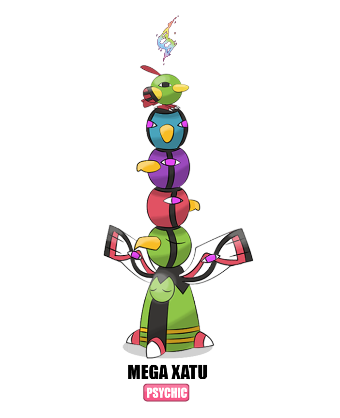 178 Mega Xatu By Otchono On DeviantArt