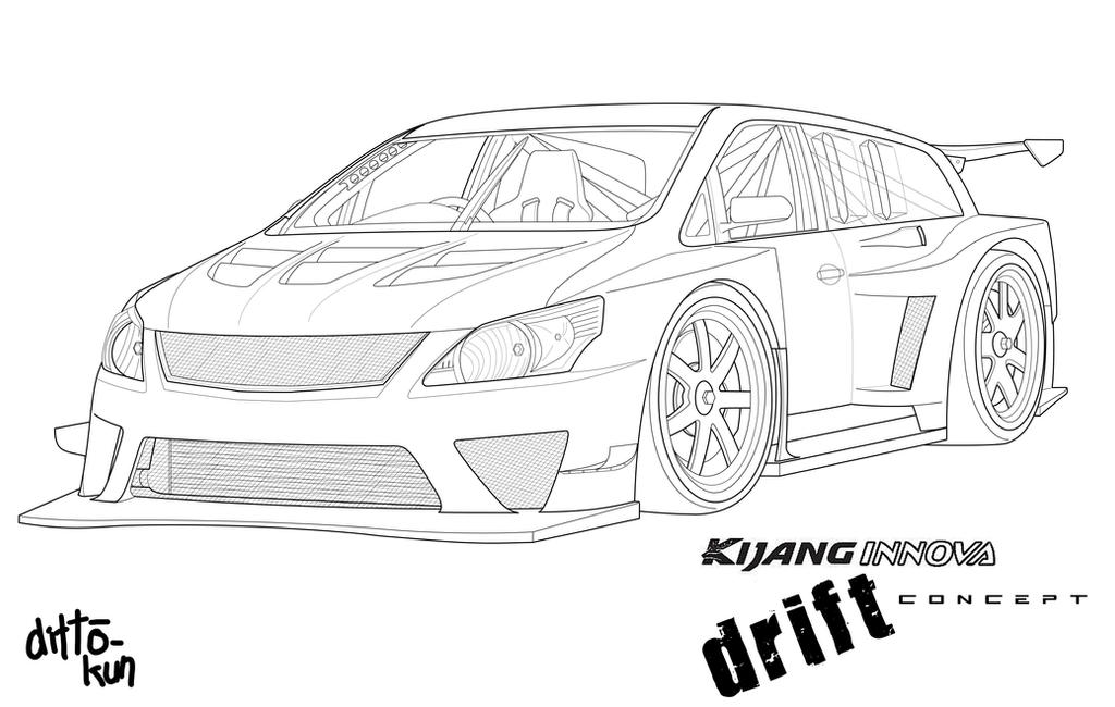 kijang innova drift concept by ditto