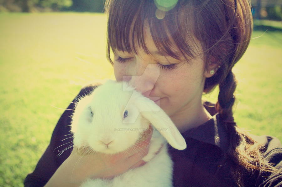 Bunny and I by ambie-bambi