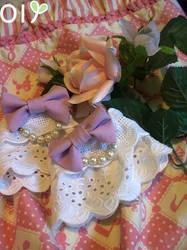 Pearly Lavender Wristcuffs by lemontreecrafts