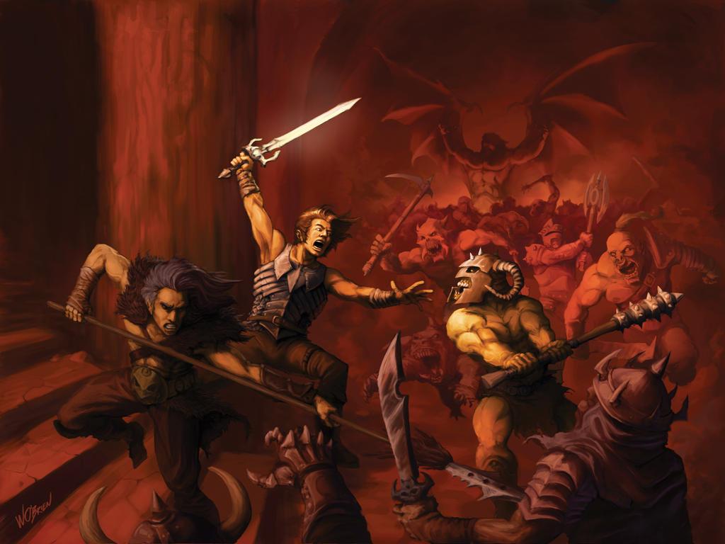 Demon Battle by WillOBrien