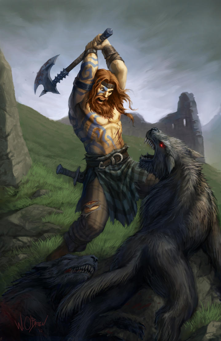 Celtic Barbarian by WillOBrien