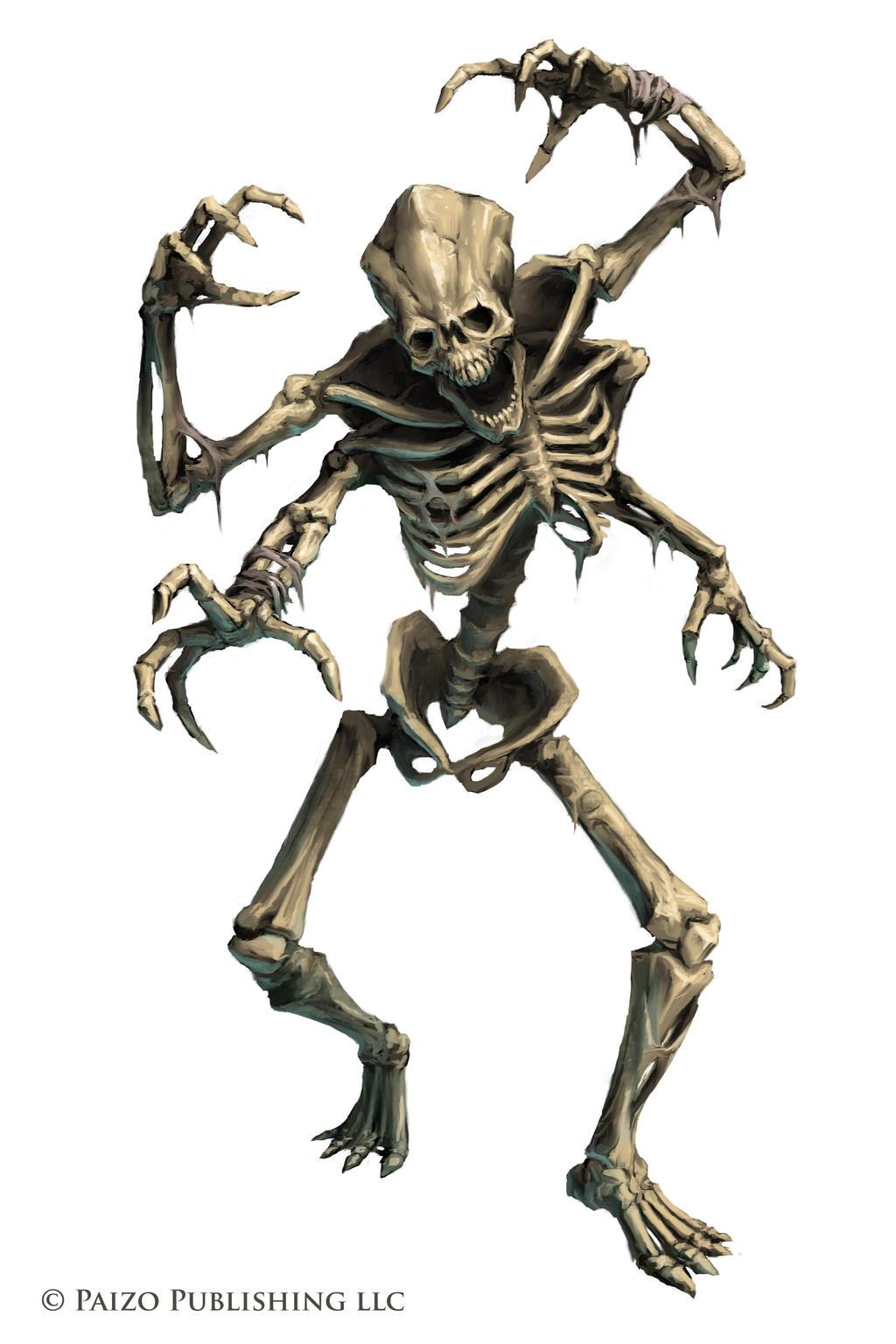 Pathfinder: Kasatha Skeleton by WillOBrien on DeviantArt