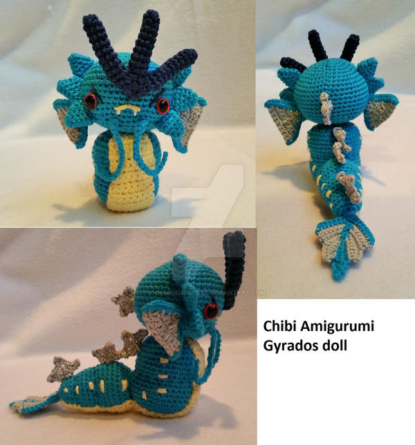 Amigurumi Chibi Doll Pattern Free : Chibi Amigurumi Gyrados-inspired doll by DemonGirlRose on ...