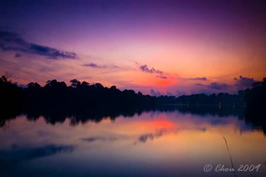 Sunrise at MacRitchie 2 by choumajin