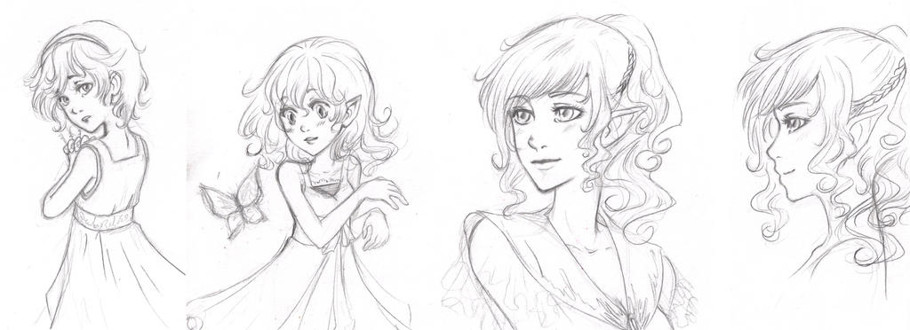 sketch OCs by x-Haru-x