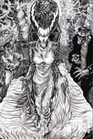 The Bride of Frankenstein by ElvinHernandez