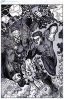 Thor vs Green Lantern by ElvinHernandez