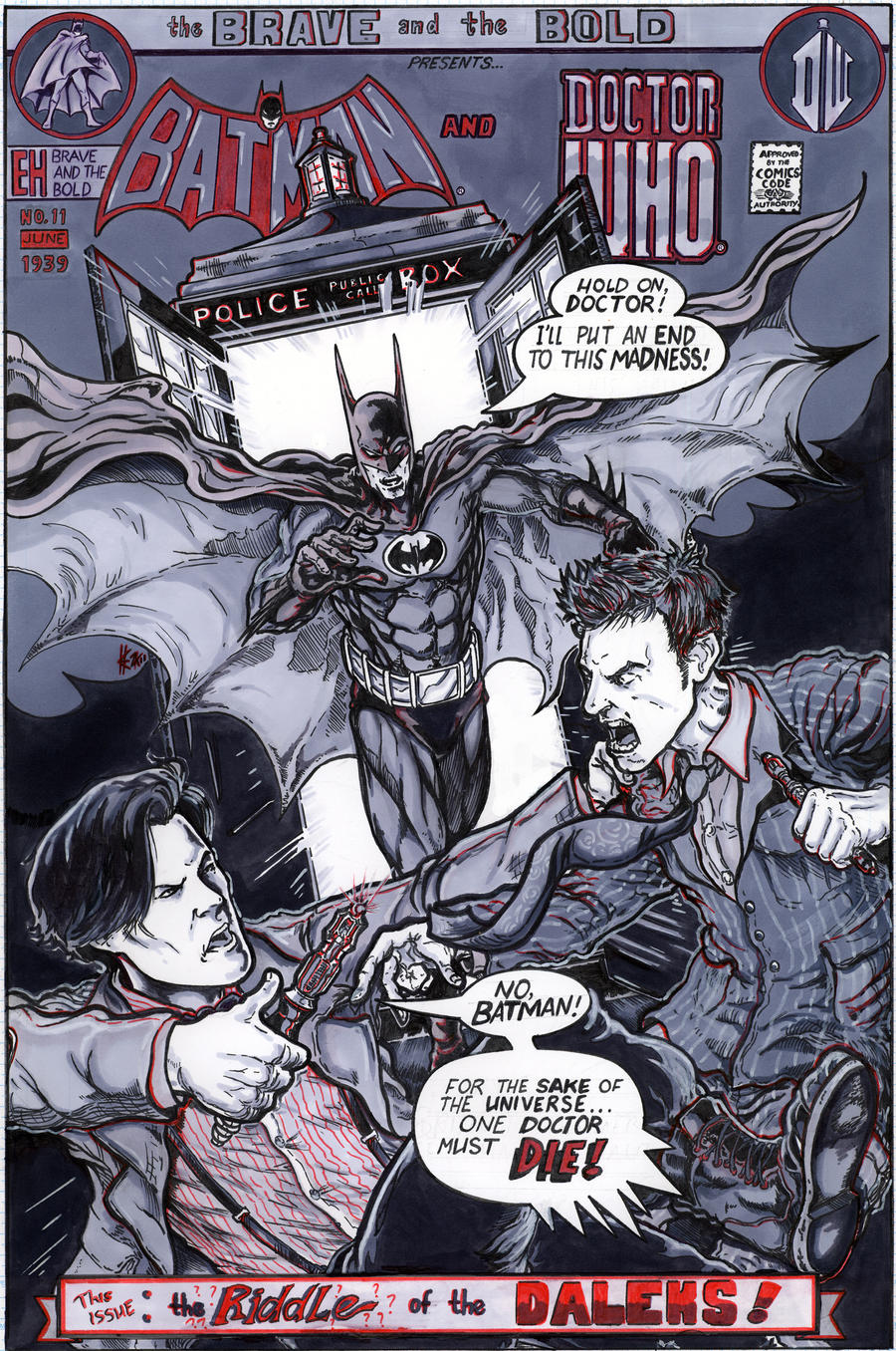 Batman and Doctor Who by ElvinHernandez